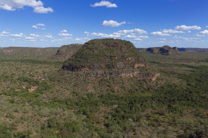 Landscape of the Brazilian cerrado. Chapada das Mesas in Maranhão Brazil royalty free stock images