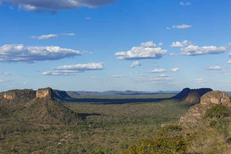 Landscape of the Brazilian cerrado. Chapada das Mesas in Maranhão Brazil royalty free stock photography
