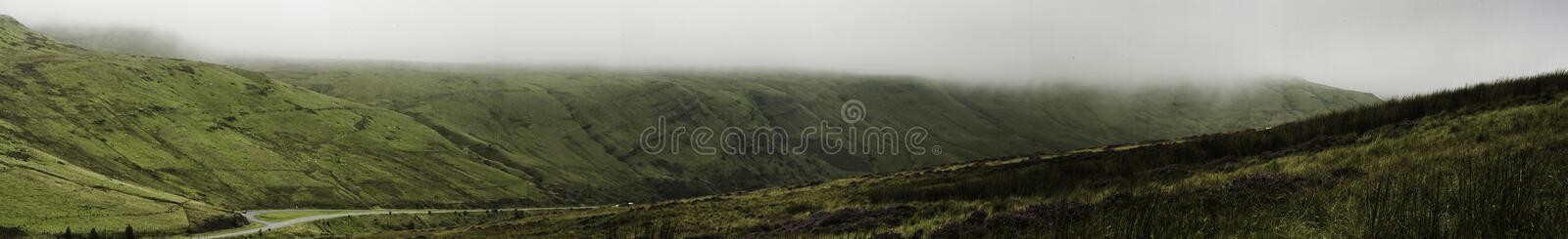 Landscape Brecon Beacon Mountains, Wales, UK royalty free stock image