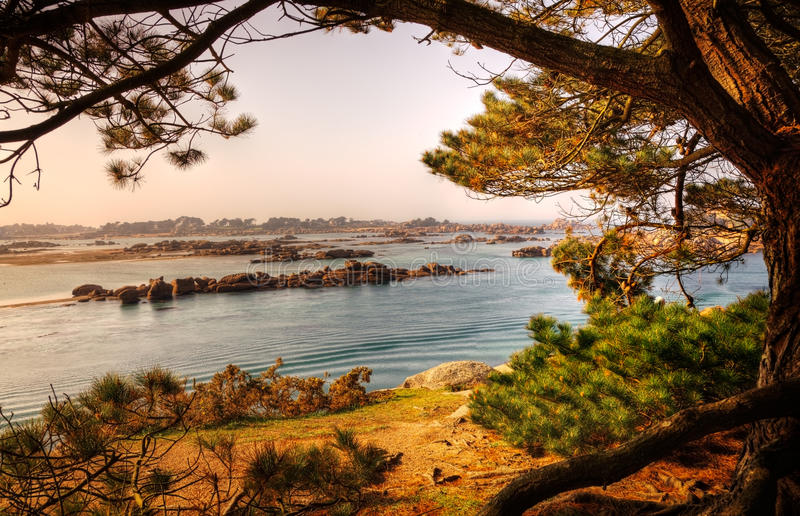 Download Landscape in Brittany stock image. Image of rocks, travel - 25183921