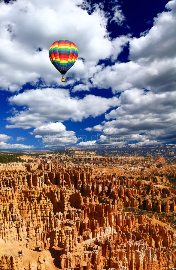 The landscape of The Bryce Canyon stock photos