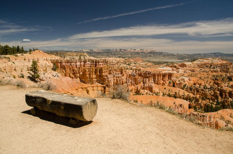 Landscape in the Bryce Canyon National Park, Utah, USA. Hiking trail. Beutiful view, point. stock photography