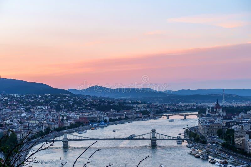 Landscape of Budapest Hungary stock photos