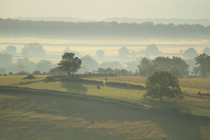 Landscape in Burgundy stock image
