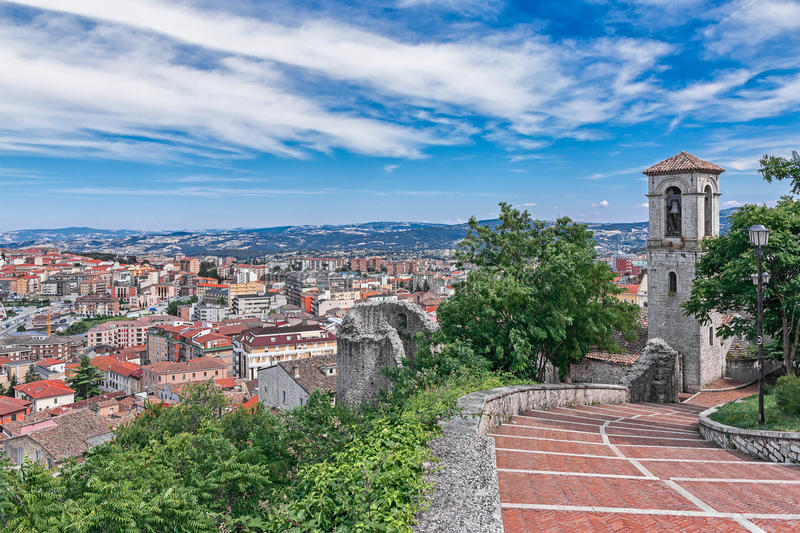 Landscape of campobasso royalty free stock images