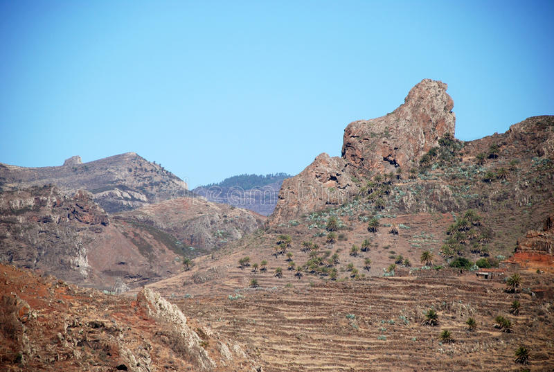 Landscape in Canary Islands stock photography