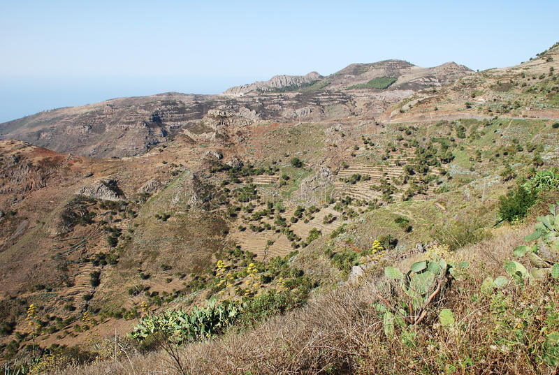 Landscape in Canary Islands stock image