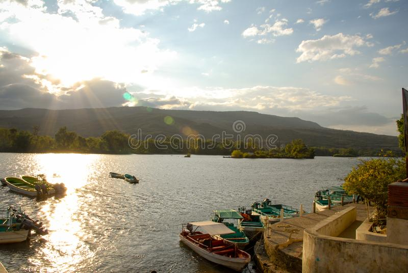 Landscape Canyon del Sumidero Chiapas Mexico stock image