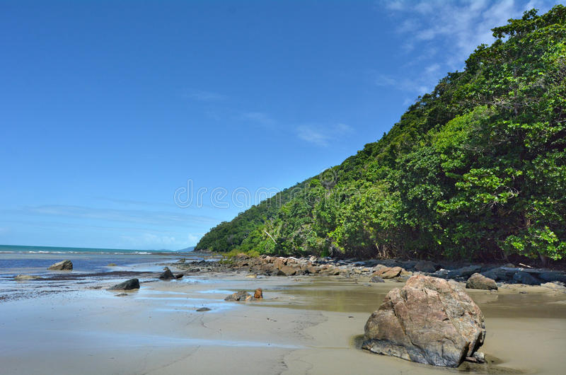 Landscape of Cape Tribulation in Daintree National Park Queensland, Australia royalty free stock photos