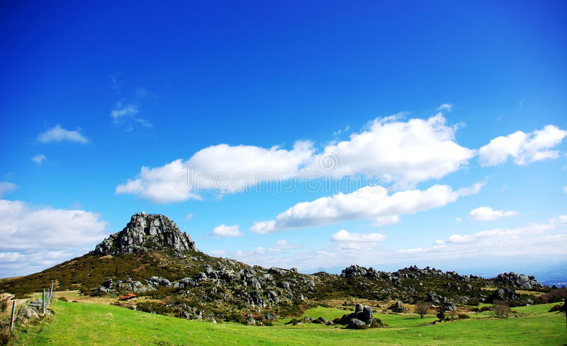 Landscape of Caramulo Mountain stock photo
