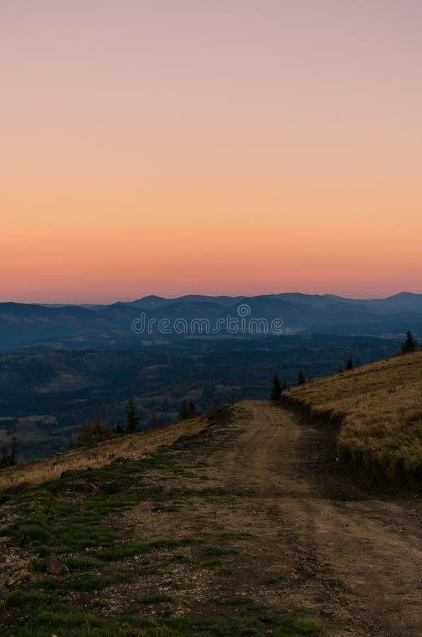 Landscape with carpathian mountains in the spring season. Carpathian mountains in sunny day in the autumn season ukraine landscape forest beautiful green nature stock photo