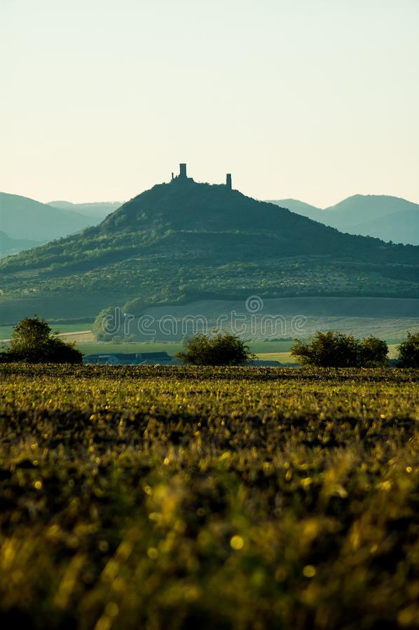 Download Landscape with castle stock photo. Image of hills, hill - 28827436