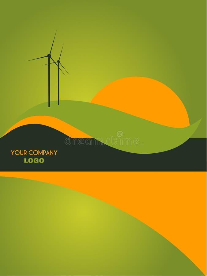 Landscape catalog flyer background