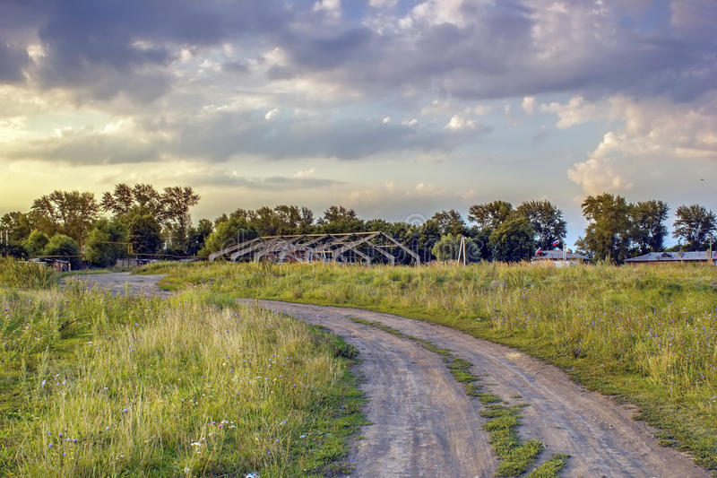 Landscape central russia. The landscape of central Russia, Tula region, outskirts of a small, provincial town royalty free stock photo