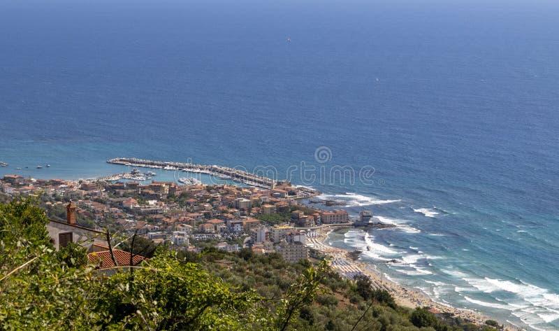 Coast of cilento in salerno italy. Landscape of cilento salerno castellabate acciaroli stock images