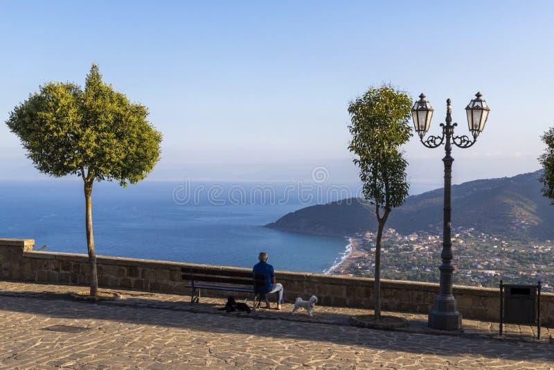 Coast of cilento in salerno italy. Landscape of cilento salerno castellabate acciaroli royalty free stock images