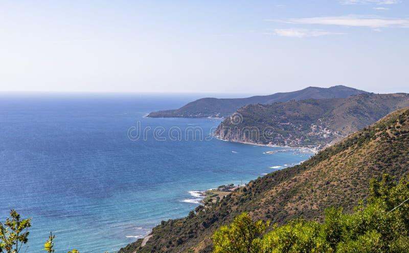 Coast of cilento in salerno italy. Landscape of cilento salerno castellabate acciaroli royalty free stock photography