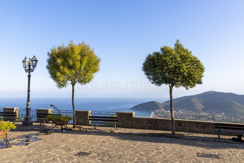 Coast of cilento in salerno italy. Landscape of cilento salerno castellabate acciaroli royalty free stock photos
