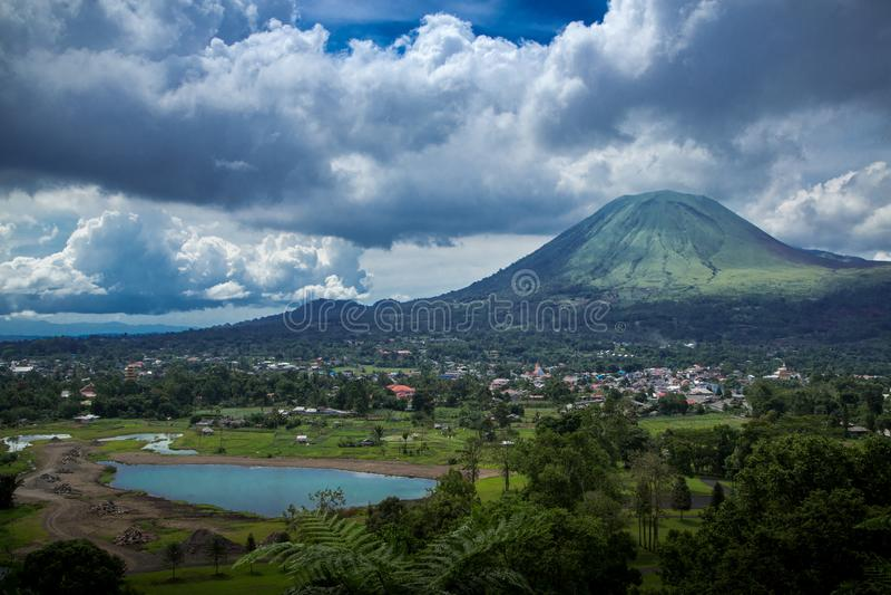 Manado in Indonesia stock photo