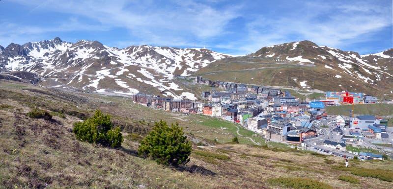 Landscape and cityscape of Pas de la Casa in Andorra royalty free stock images