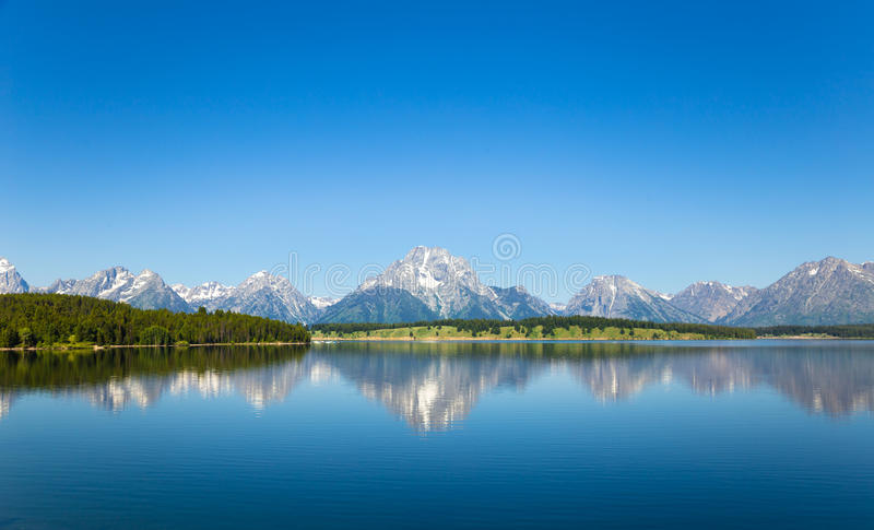 Landscape with clear mountain lake stock image
