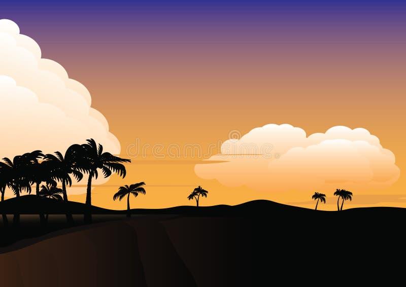Landscape cliff stock illustration
