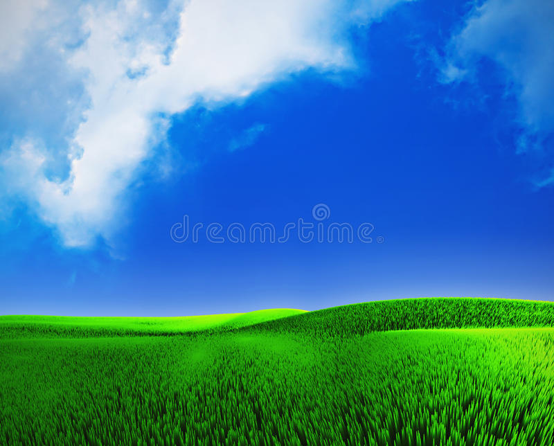 Landscape With A Cloudly Sky Royalty Free Stock Photo