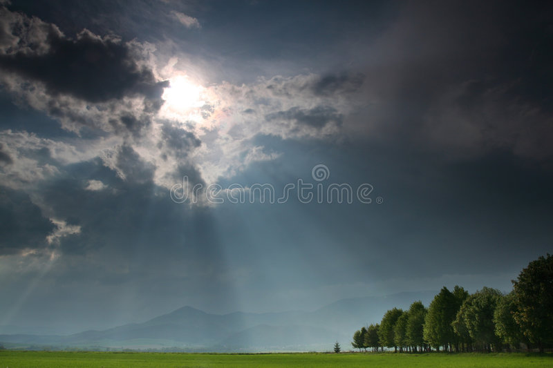 Landscape with clouds royalty free stock images