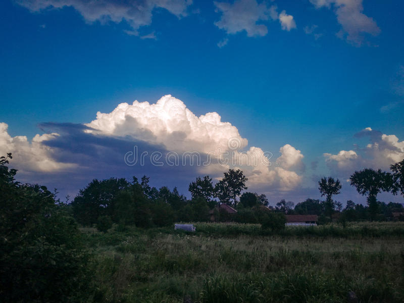 Landscape clouds royalty free stock image