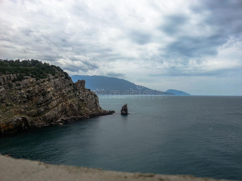 Landscape of the coast of the Crimea. The Crimean Peninsula is one of the most beautiful places on the black sea coast. In the ancient time was inhabited by stock photo