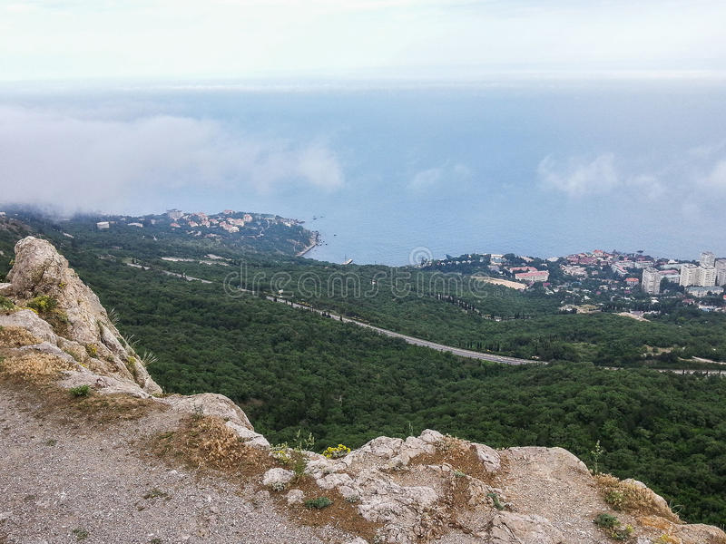 Landscape of the coast of the Crimea. The Crimean Peninsula is one of the most beautiful places on the black sea coast. In the ancient time was inhabited by royalty free stock photography