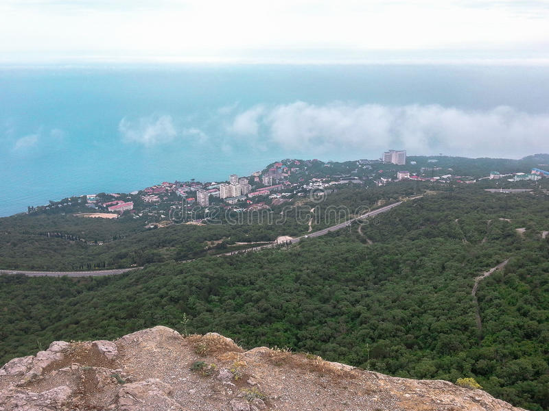 Landscape of the coast of the Crimea. The Crimean Peninsula is one of the most beautiful places on the black sea coast. In the ancient time was inhabited by stock image