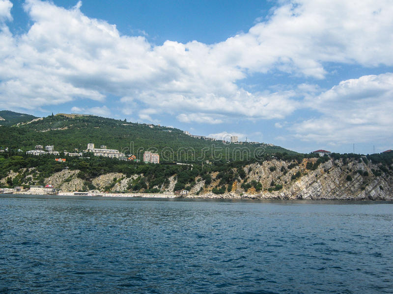 Landscape of the coast of the Crimea. The Crimean Peninsula is one of the most beautiful places on the black sea coast. In the ancient time was inhabited by royalty free stock image
