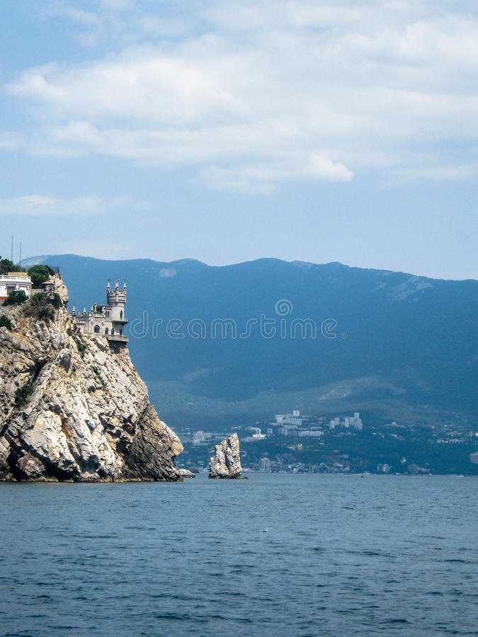 Landscape of the coast of the Crimea. The Crimean Peninsula is one of the most beautiful places on the black sea coast. In the ancient time was inhabited by royalty free stock images