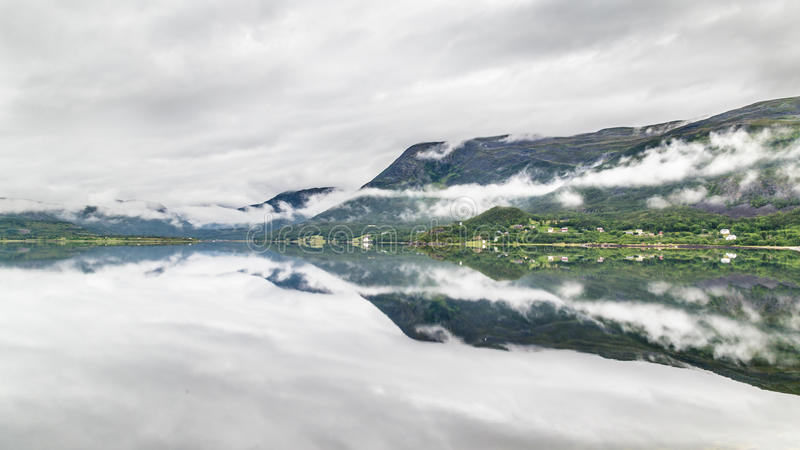 Landscape coast northern Norway stock photos