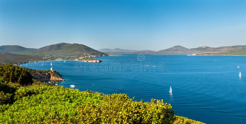 Landscape of coast of Sardinia stock photography