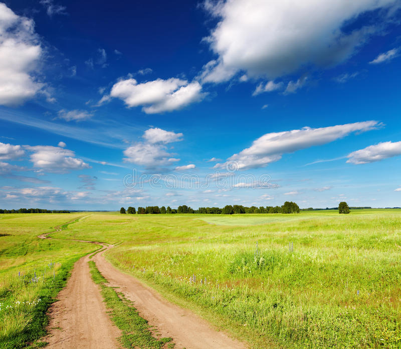 Landscape with country road royalty free stock images