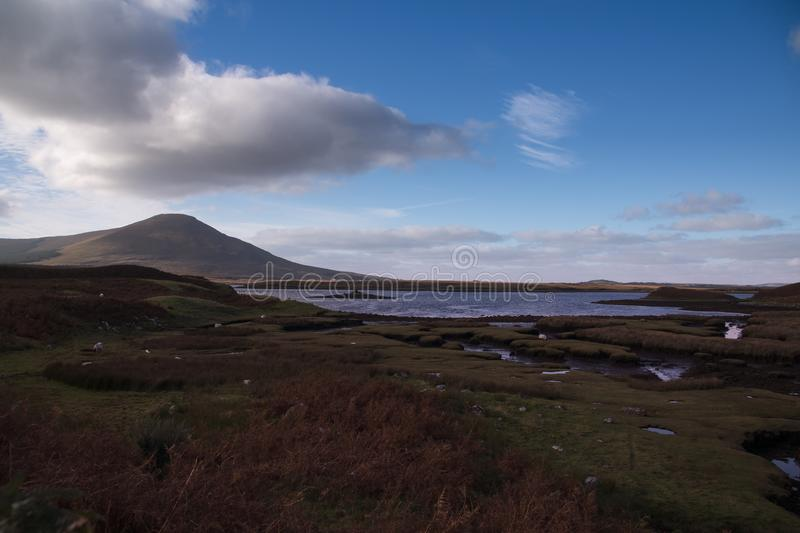 Landscape in County Mayo. Landscape with lake at County Mayo, Ireland royalty free stock image