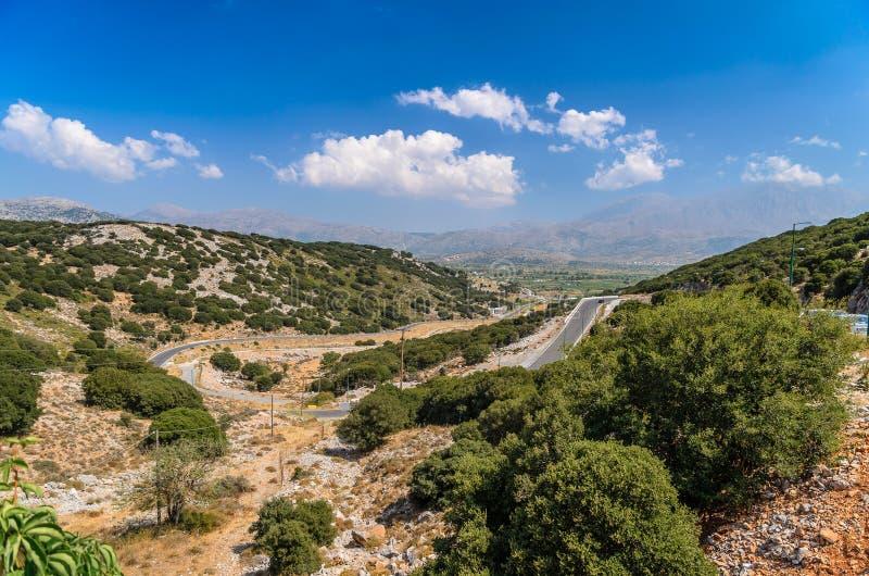 Landscape of Crete island at Lasithi district. stock photo