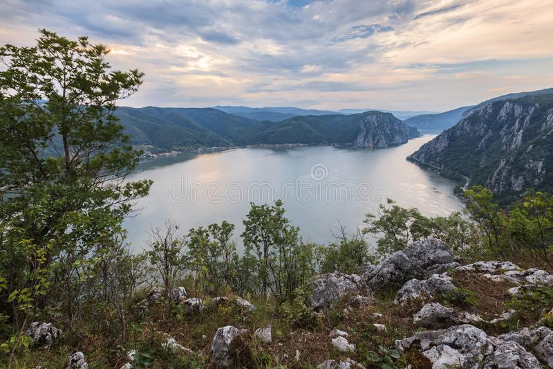 The Danube Gorges, Romania stock photo