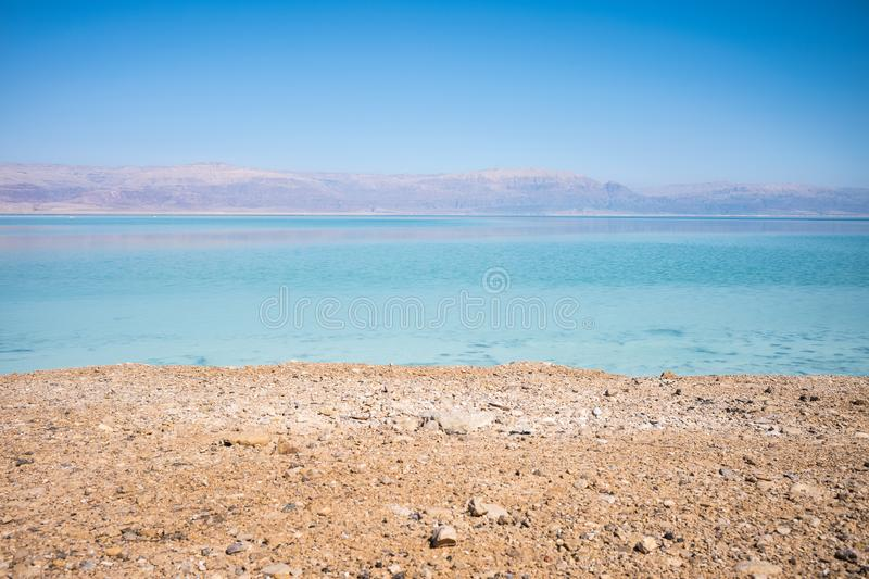 landscape of the Dead Sea, failures of the soil, illustrating an environmental catastrophe on the Dead Sea, Israel stock photos