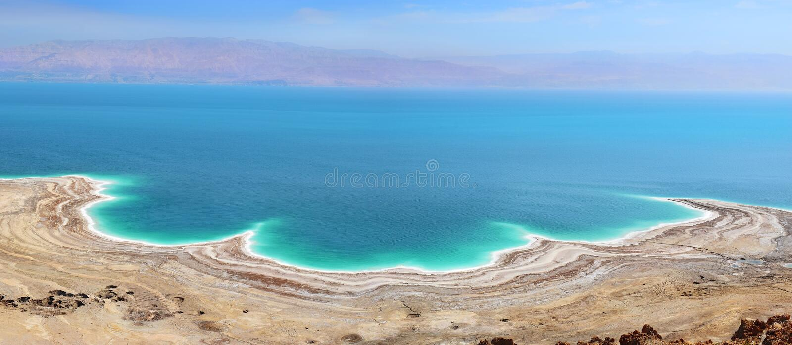 Landscape of the Dead Sea, Israel royalty free stock images