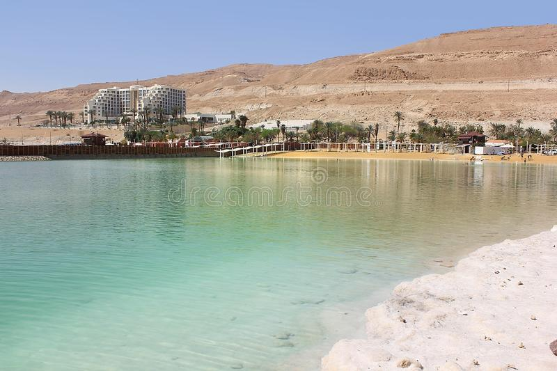 Landscape at the Dead Sea, Israel shore royalty free stock images