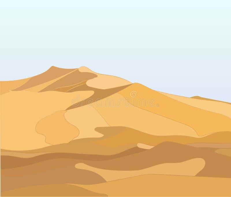 Landscape desert, ilustração stock