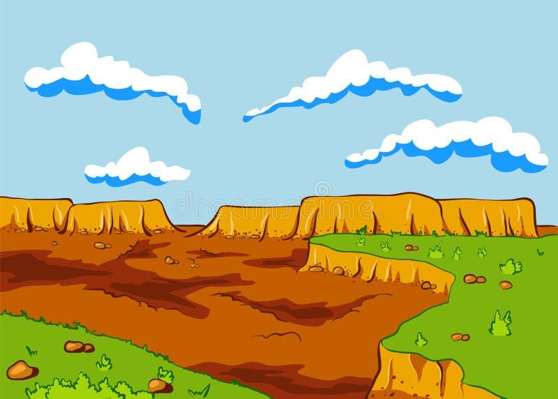 Landscape of the desert vector illustration