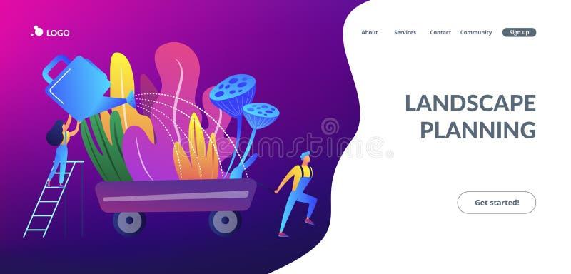 Landscape design concept landing page. royalty free illustration
