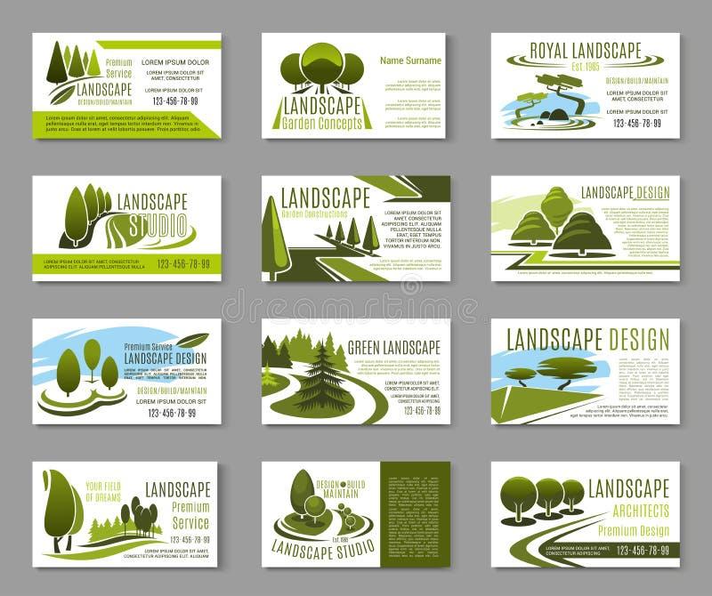 Landscape design studio business card template stock vector download landscape design studio business card template stock vector illustration of leaf illustration reheart Gallery