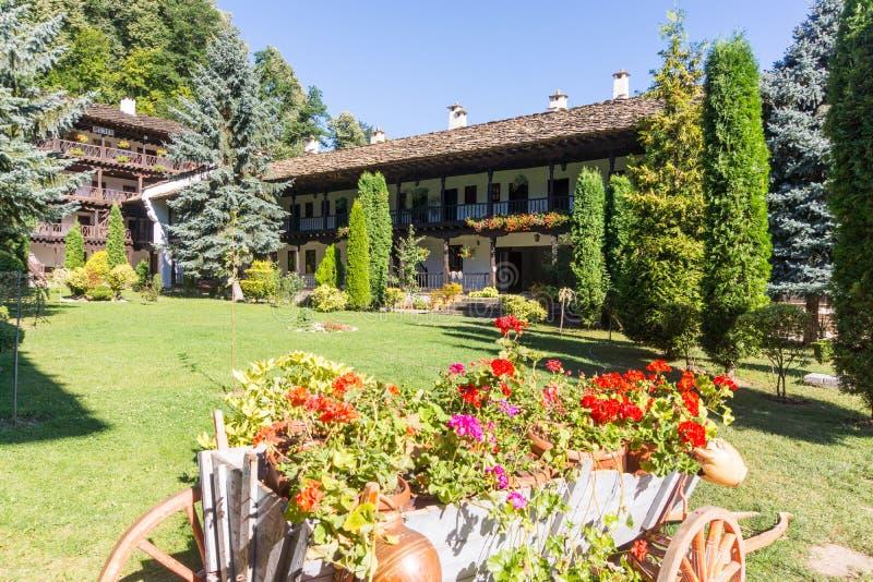 Landscape design Troyan Monastery, Bulgaria stock photos