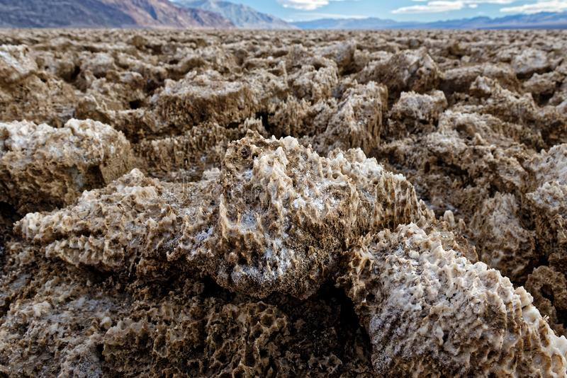 Devil's Golf Course, Death Valley National Park, California stock photography