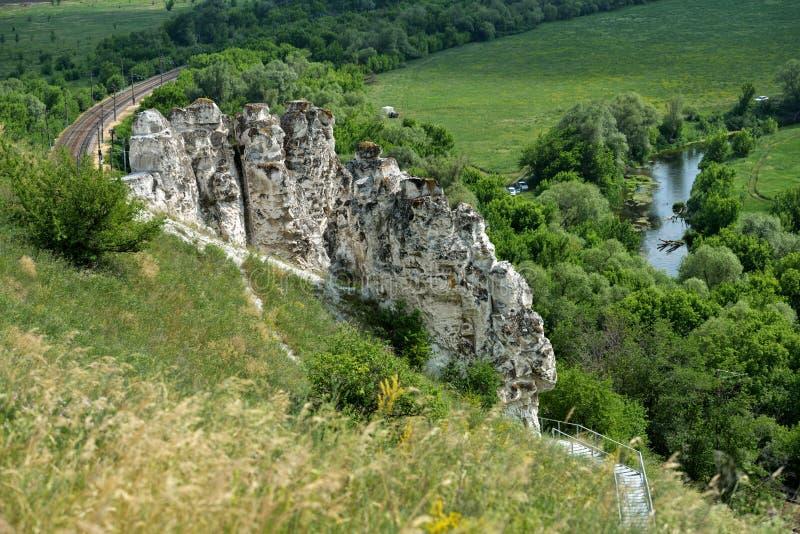 Landscape of Divnogorie, Russia royalty free stock photo